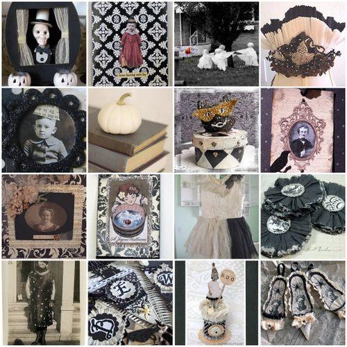 Mosaic Halloween Black white20a0389b00ebfb82410aeee247f8034fd3c42a68