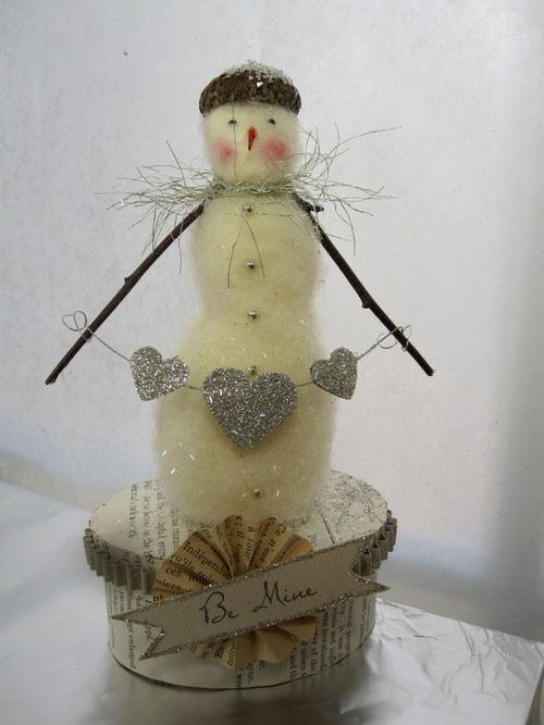 Snowman felted